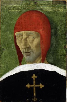 I. Miksa császár ravatalképe. 1519, fa, olaj; 47,5 x 36 cm\r\n