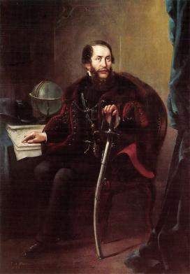 Napoleon Michal Julius Illakowicz: Kossuth Lajos képmása. 1853. Olajfestmény\r\n