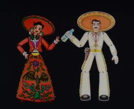 Ünnepi papírdíszek Mexikóból