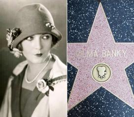 Bánky Vilma színésznő csillaga a hírességek sétányán