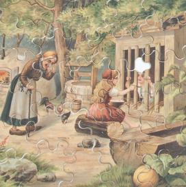 Jancsi és Juliska, kirakójáték a századfordulóról