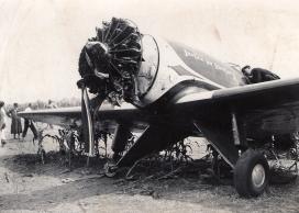 """A \""""Justice for Hungary\"""" repülőgép a kényszerleszállás után."""