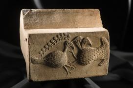 Kályhacsempe, lelőhely: Gáva, kor: XV–XVI. század\r\n
