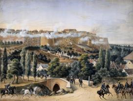 Klette Károly: Buda visszafoglalása, 1849. május 21. – Roham a Fehérvári kapunál