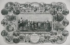 A Kreith-féle Ereklyemúzeum emléklapja, litográfia