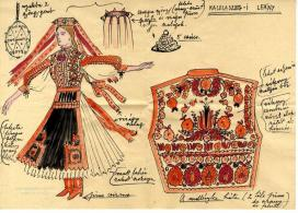 Márk Tivadar rajzfüzetéből: kalotaszegi viselet