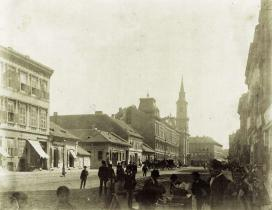 A Nagymező utca eleje 1873 körül, Budapest