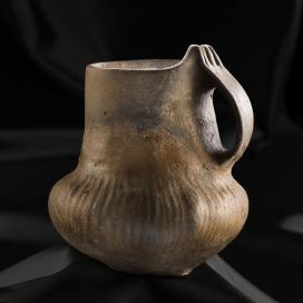 Füles kerámiaedény, lelőhely: Viss–Szőlőhomok (1938), kor: késő rézkor, Baden kultúra, Kr. e. IV. évezred eleje - III. évezred vége
