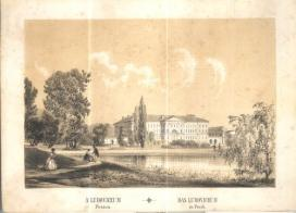 Rudolf von Alt (1812-1905): A Ludovíceum. 1846, színes litográfia\r\n