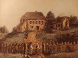 Deák Ferenc szülőháza Söjtörön., olajfestmény