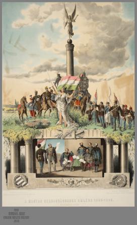 Szendrei János-Udvarlaky Béla: A magyar szabadságharc emléke. Színes litográfia\r\n