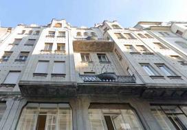 A budapesti Vermes-bérház homlokzatának részlete