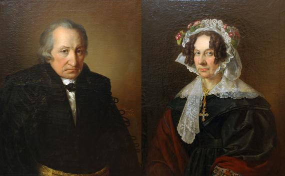 Barabás Miklós: A Konkoly-házaspár (a férj és a feleség arcképe)