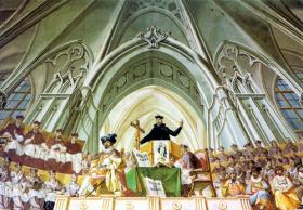 J. L. Kracker: Trident, ceiling fresco, 1778.