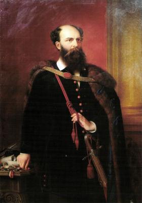 Barabás Miklós (1818-1898): Batthyány Lajos portréja. 1883. Olajfestmény\r\n