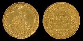 I. Rákóczi György 1631-ben vert tízszeres aranyforintja.