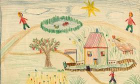 Lucian Freud gyermekkori rajza