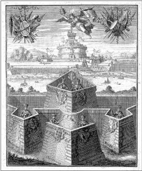 Magyarország, mint a kereszténység védőbástyája. Rézmetszet, 17. század második fele\r\n\r\n