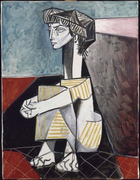 Pablo Picasso: Jacqueline összetett karral 1954