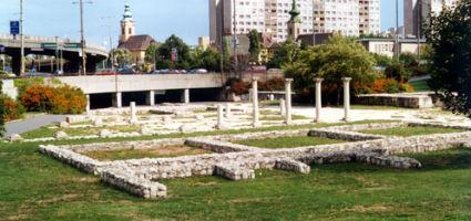 A római fürdő romjai