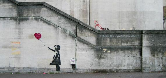 Banksy Girl and Heart Balloon