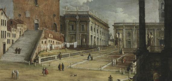 Bernardo Canal: A Piazza del Campidoglio Rómában