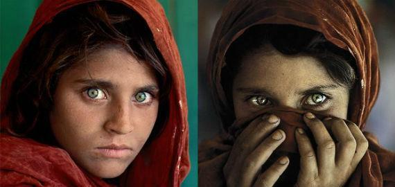 Steve McCurry: Afgán lány