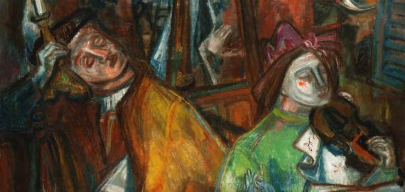 Ámos Imre: Sötét idők (VIII.), 1941. Olaj, vászon Magyar Nemzeti Galéria, Budapest Ltsz. / Inv. no. 67.240T