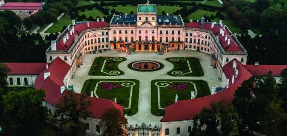 Esterházy Kastélymúzeum, légifotó
