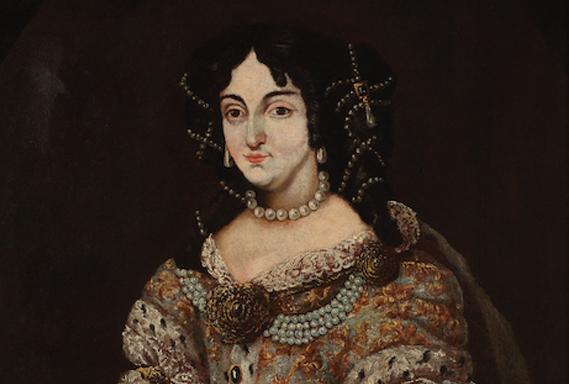 Zrínyi Ilona arcképe. 17. század második fele. Olajfestmény