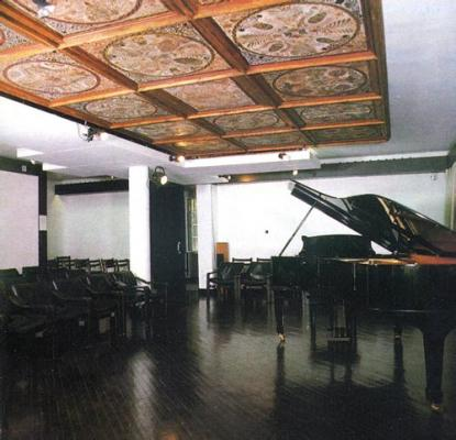 The well equipped concert hall (80 seats)