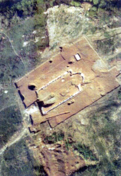 Légifelvétel az ásatásokról
