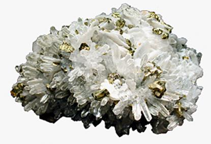 Calcite, Quarc, Pyrite (Kapnikbánya, today: Cavnic - Romania)