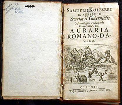 Auraria Romano-Dacica: Kölesi Sámuel, 1717, Nagyszeben