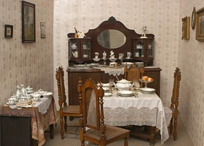 Detail of a Dining Room of a Civic Flat