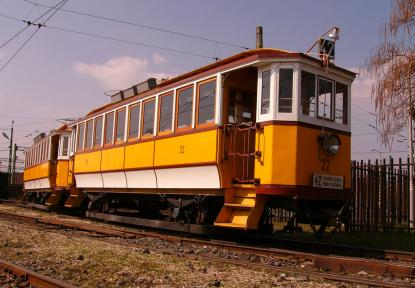 BVVV 21-22 electric twin car built in the Ganz Factory in 1911 for the Electric Train of Budapest
