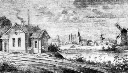 Újfehértó egy XIX. századi metszeten