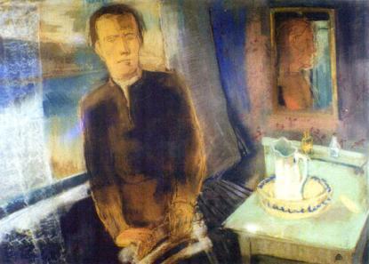Bernáth Aurél: Önarckép ablak előtt