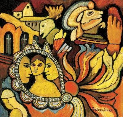 Balázs János festménye