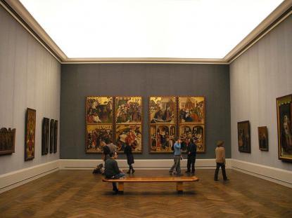 A berlini Képtár (Gemäldegelarie) kiállítóterme