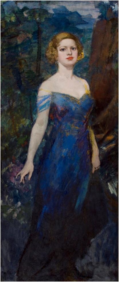 Csók István: Feleség kék ruhában