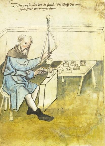 Gyűszűkészítő (Mendel kiadványából)
