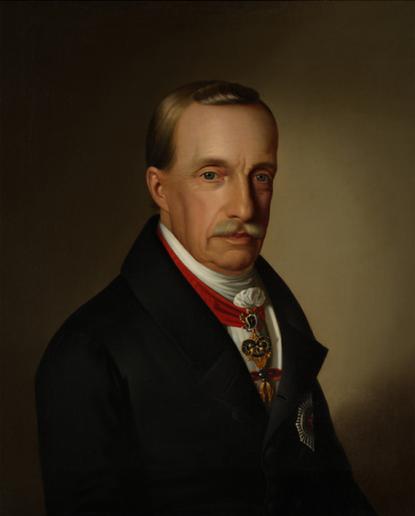 Anton Einsle (1801-1871): József nádor arcképe. 1840. Olajfestmény