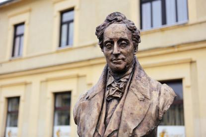 Lantos Györgyi szobra Batthyány Fülöpről, Körmend