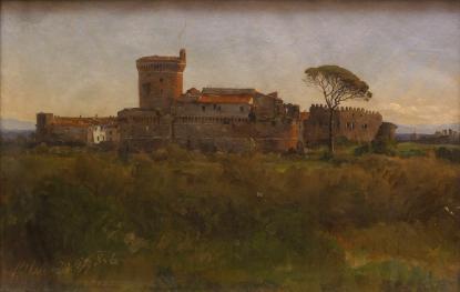 Ligati Antal Ostia várának látképe