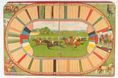 Lóverseny - Társasjáték az 1930-as évekből