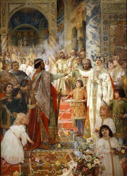 Mato Celestin Medović: Zvonimir király eljegyzése, 1907.\r\n