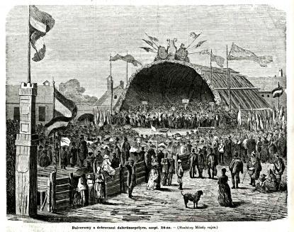 A debreceni dalos ünnep Munkácsy grafikáján, 1868