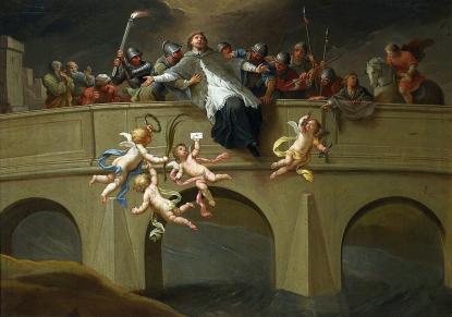 Szymon Czechowicz: Nepomuki Szent János mártíromsága (1750)