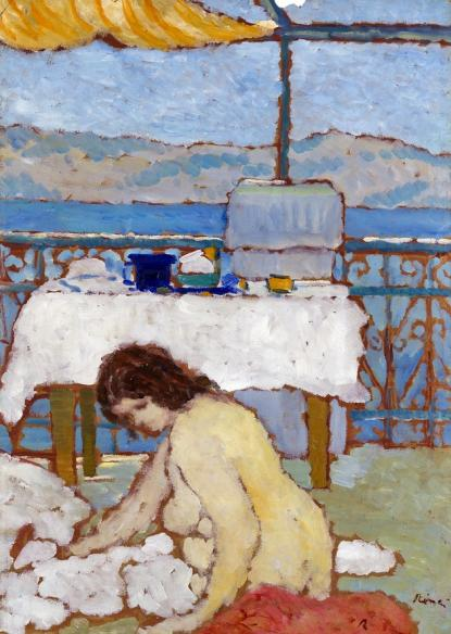 Rippl-Rónai József Terasz a tengerparton (1908), Gyurkovich-gyűjtemény